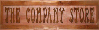 Company Store Sign