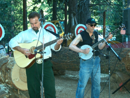 Paturick and Banjo player
