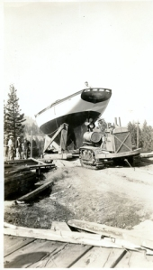 Blagen Boat moved by tractor