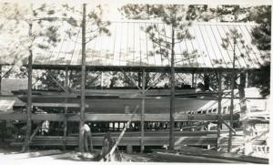 Blagen Boat shed roof up