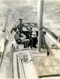 Blagen Boat w Frank at helm
