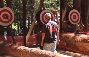 Axe throw near bullseye