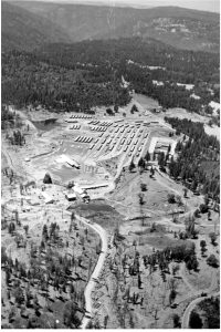 Veriical aerial of mill and yard